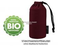 Flaschenbeutel - BIO-Weinrot