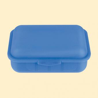 Brotbox m. 1 Tst blau