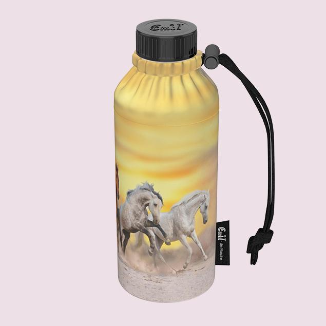 Wildpferde Weithals-Flasche