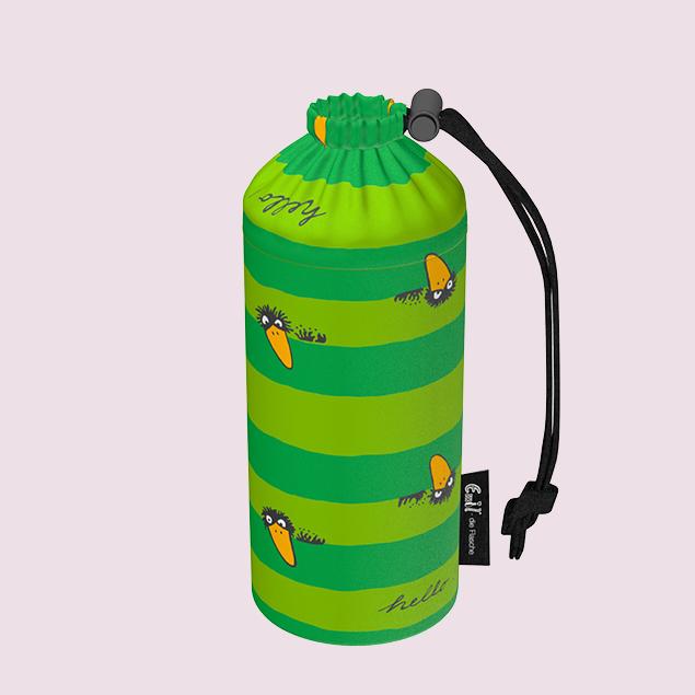 Flaschenbeutel - Rabe Grün