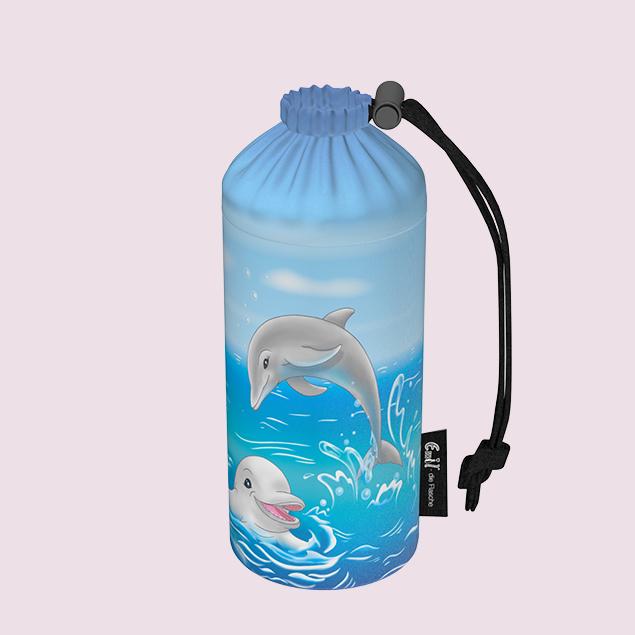 Flaschenbeutel - Delfine 0,4l