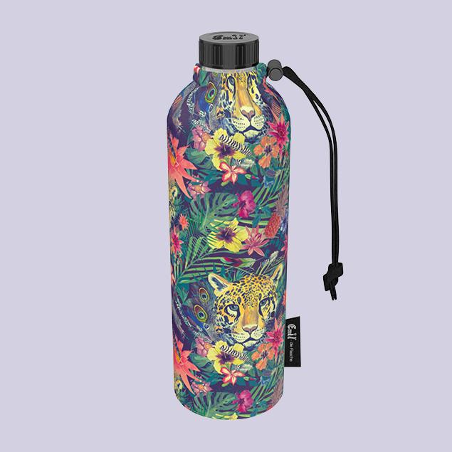 Leopard Weithals-Flasche