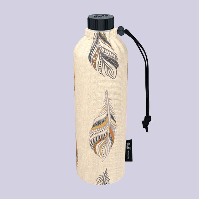 Federn - Weithals-Flasche