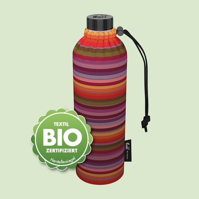 BIO-Streifen Weithals-Flasche
