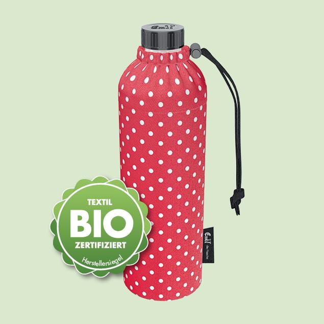 BIO-Punkte Rot Weithals-Flasche