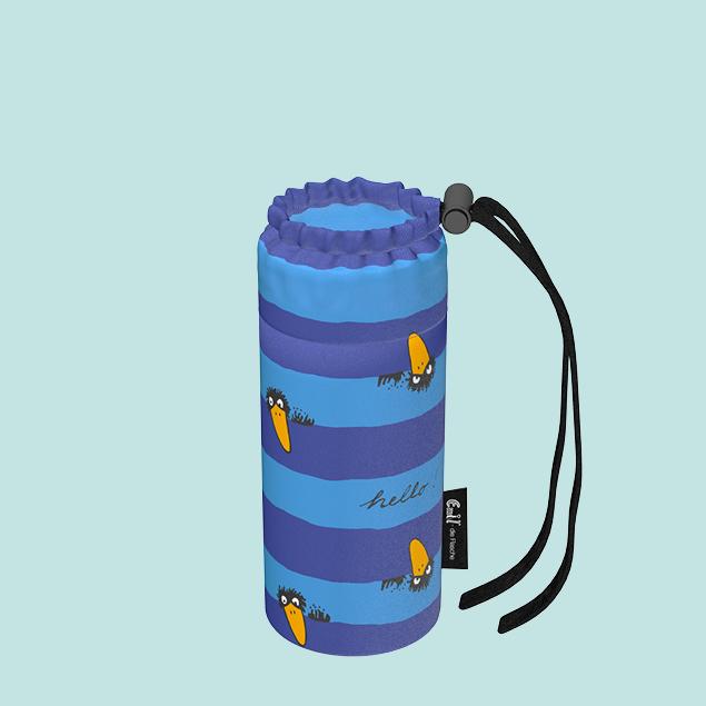 Flaschenbeutel - Baby Rabe blau