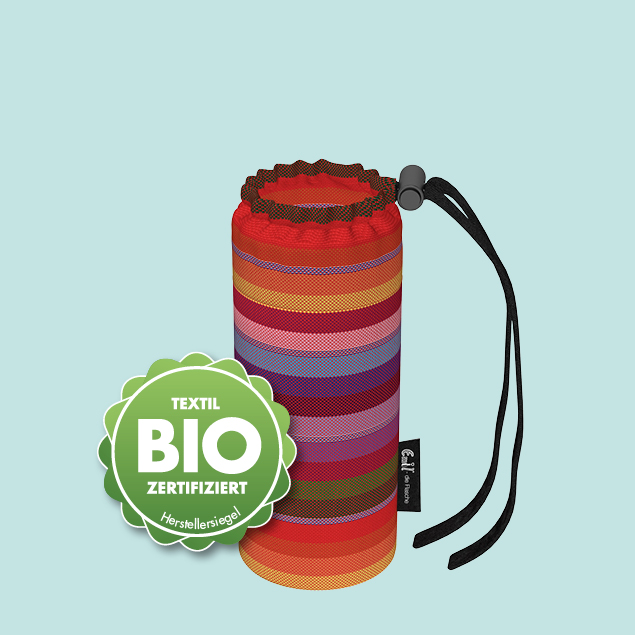 Flaschenbeutel - Baby BIO-Streifen