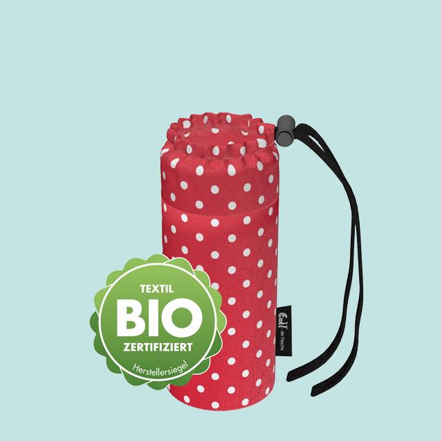Flaschenbeutel - Baby BIO-Punkte Rot