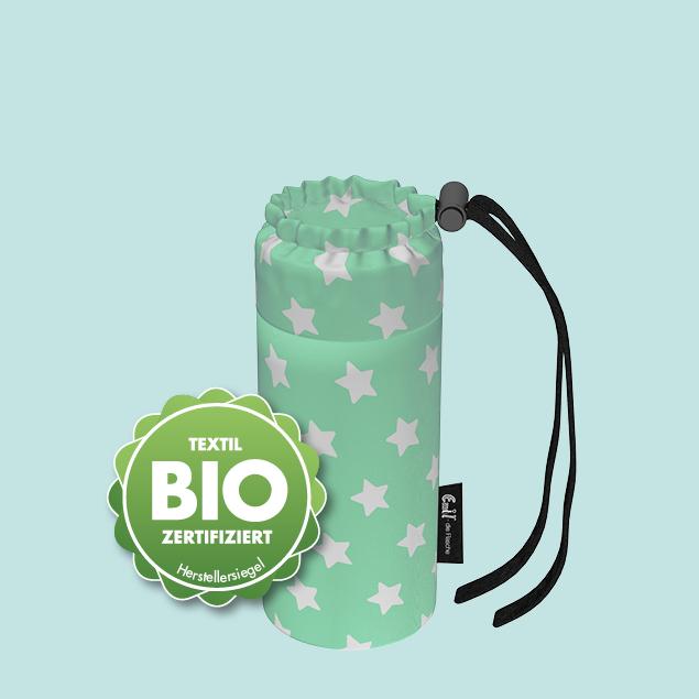Flaschenbeutel - Baby BIO-Sterne Mint