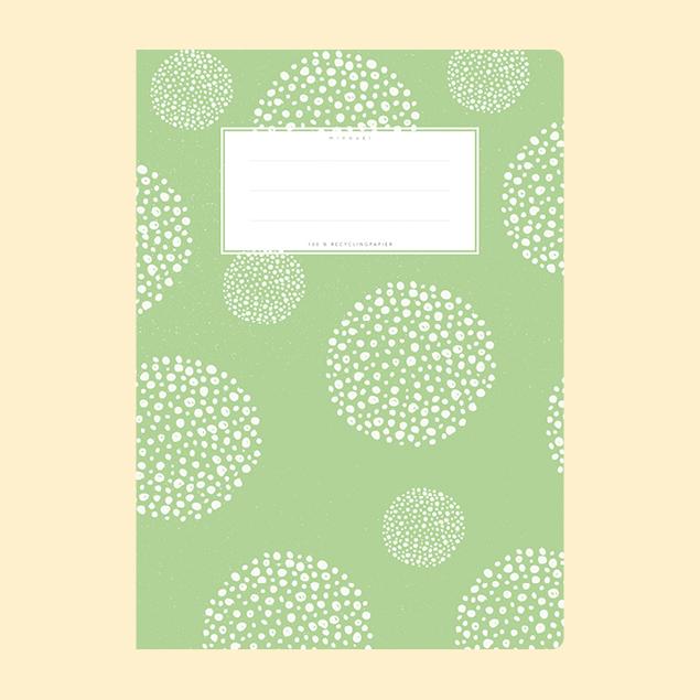 Schulheftumschlag - Gemustert Hellgrün