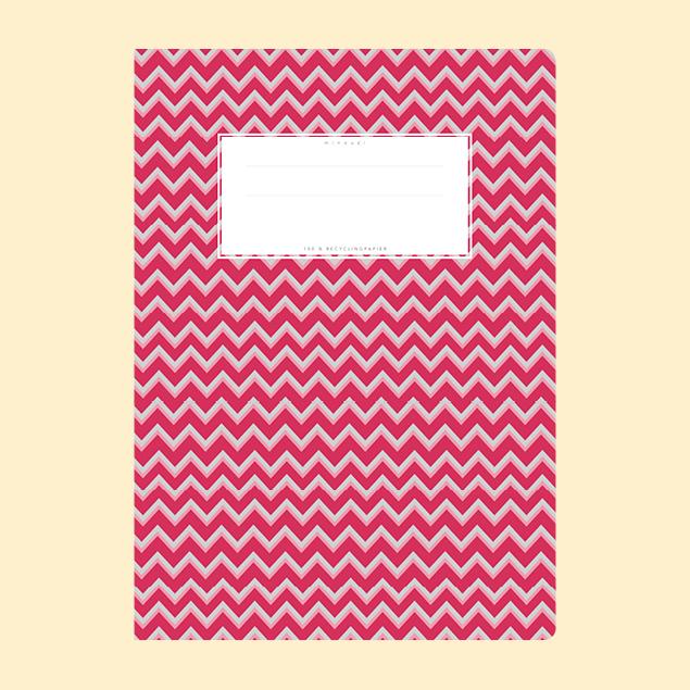Schulheftumschlag - Gemustert Rot