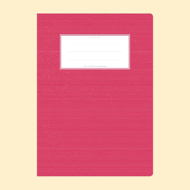 Schulheftumschlag - Uni Rot