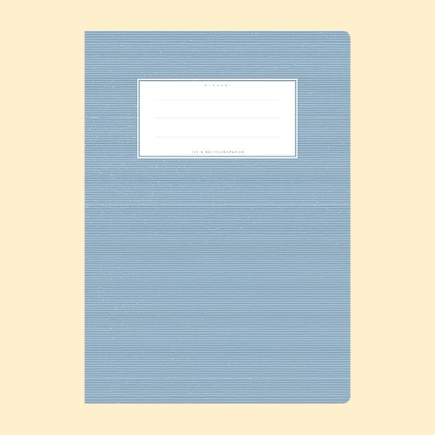 Schulheftumschlag - Uni Hellblau