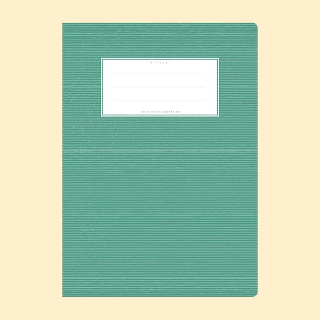 Schulheftumschlag - Uni Dunkelgrün