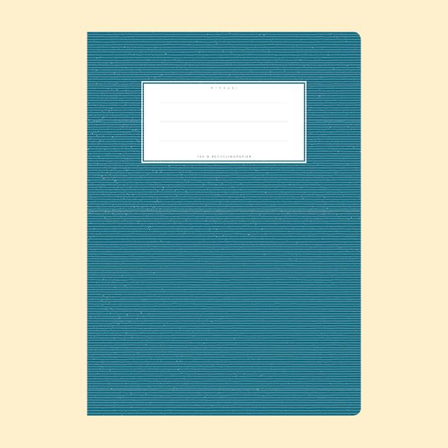Schulheftumschlag - Uni Dunkelblau
