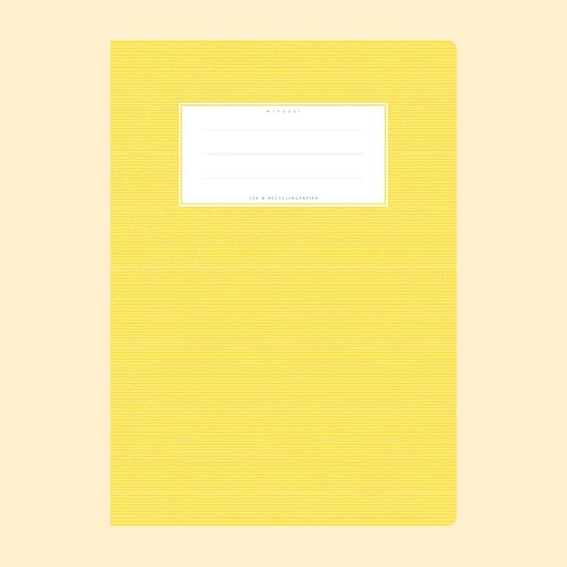 Schulheftumschlag - Uni Gelb