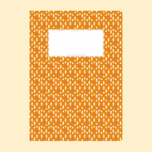 Schulheftumschlag - Muster Orange