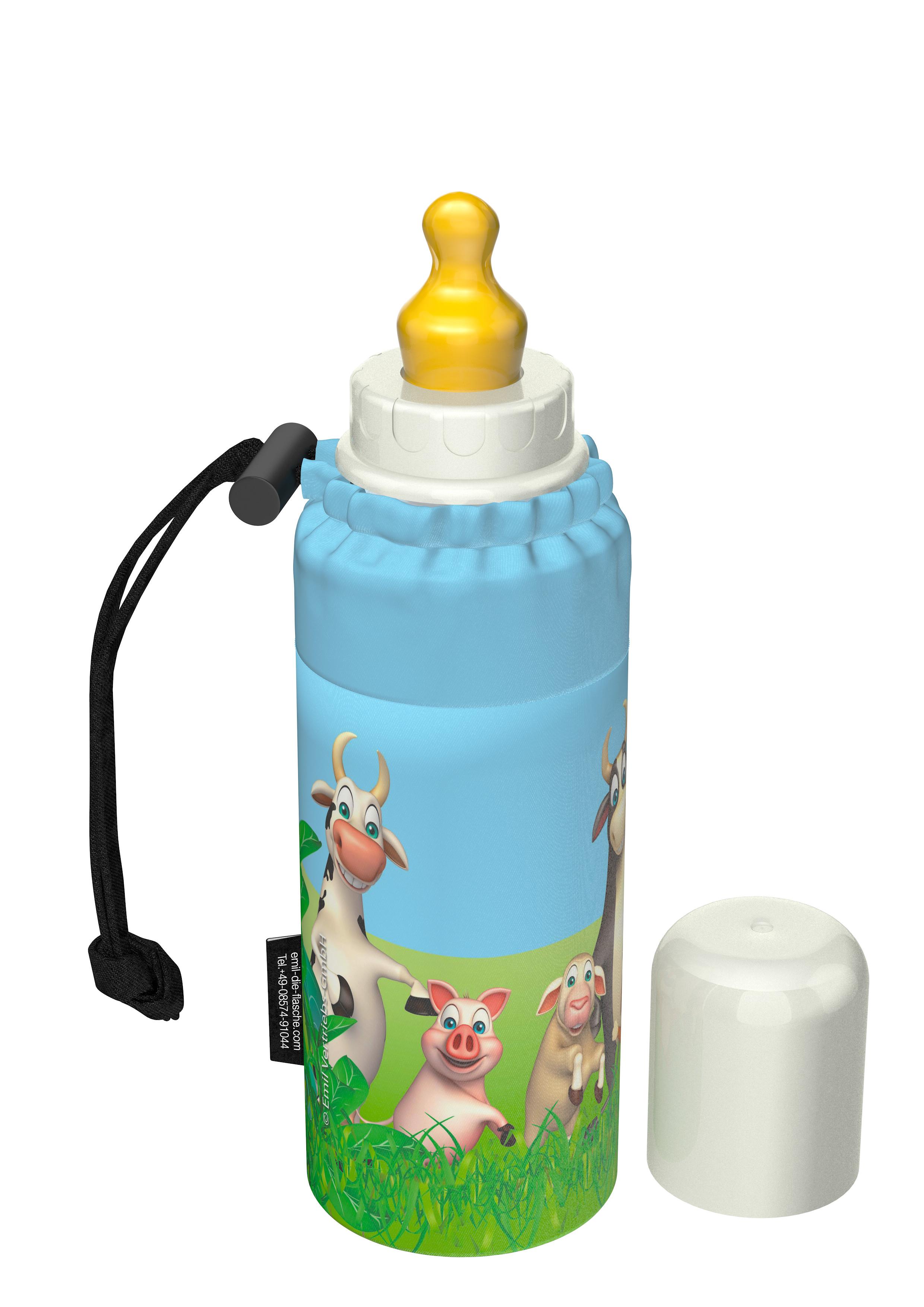 emil die flasche zum anziehen trinkflasche baby emil farm die flasche zum anziehen. Black Bedroom Furniture Sets. Home Design Ideas